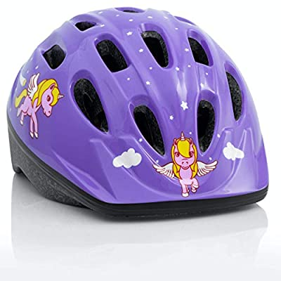 TeamObsidian Kids Bike Helmet [ Unicorn ] – Adjustable from Toddler to Youth Size, Ages 3-7 - Durable Kid Bicycle Helmets with Fun Designs Girls Will Love - CPSC Certified - FunWave