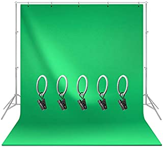 LS LIMO STUDIO LIMOSTUDIO, Green Screen Backdrop Muslin Chromakey Background with Ring Clip for Photography Video Studio, AGG1338 (Green, 6 x 9 ft.)