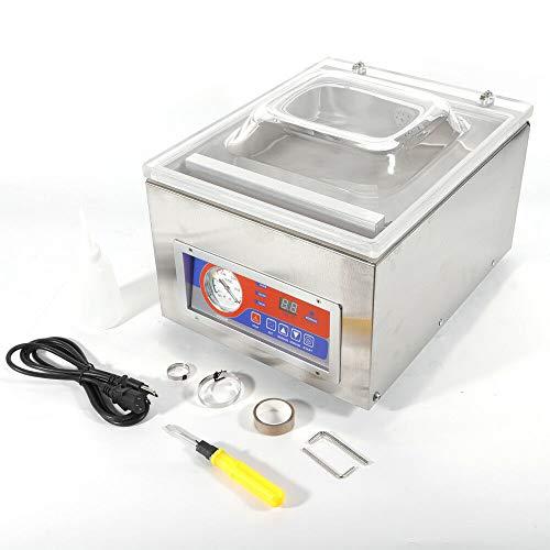 BTdahong Envasadora al Vacío de Alimentos 120W, Máquina de Envasado Sellador al Vacío de Acero Inoxidable, Sellador al Vacío Automático 1~4 pcs/min