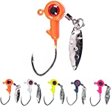 1/16 oz Jig Heads Freshwater Fishing Lures Jig Head with Eye Ball 25PCS Painted Hooks Fishing Jigs for Bass/Crappie(1.75g