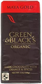 Green & Black's Maya Gold, Organic Dark Chocolate with Orange & Spices, 3.5-Ounce Bars (Pack of 5)