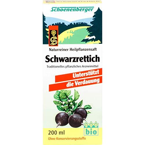 Schoenenberger Schwarzrettich naturreiner Heilpflanzensaft, 200 ml Lösung