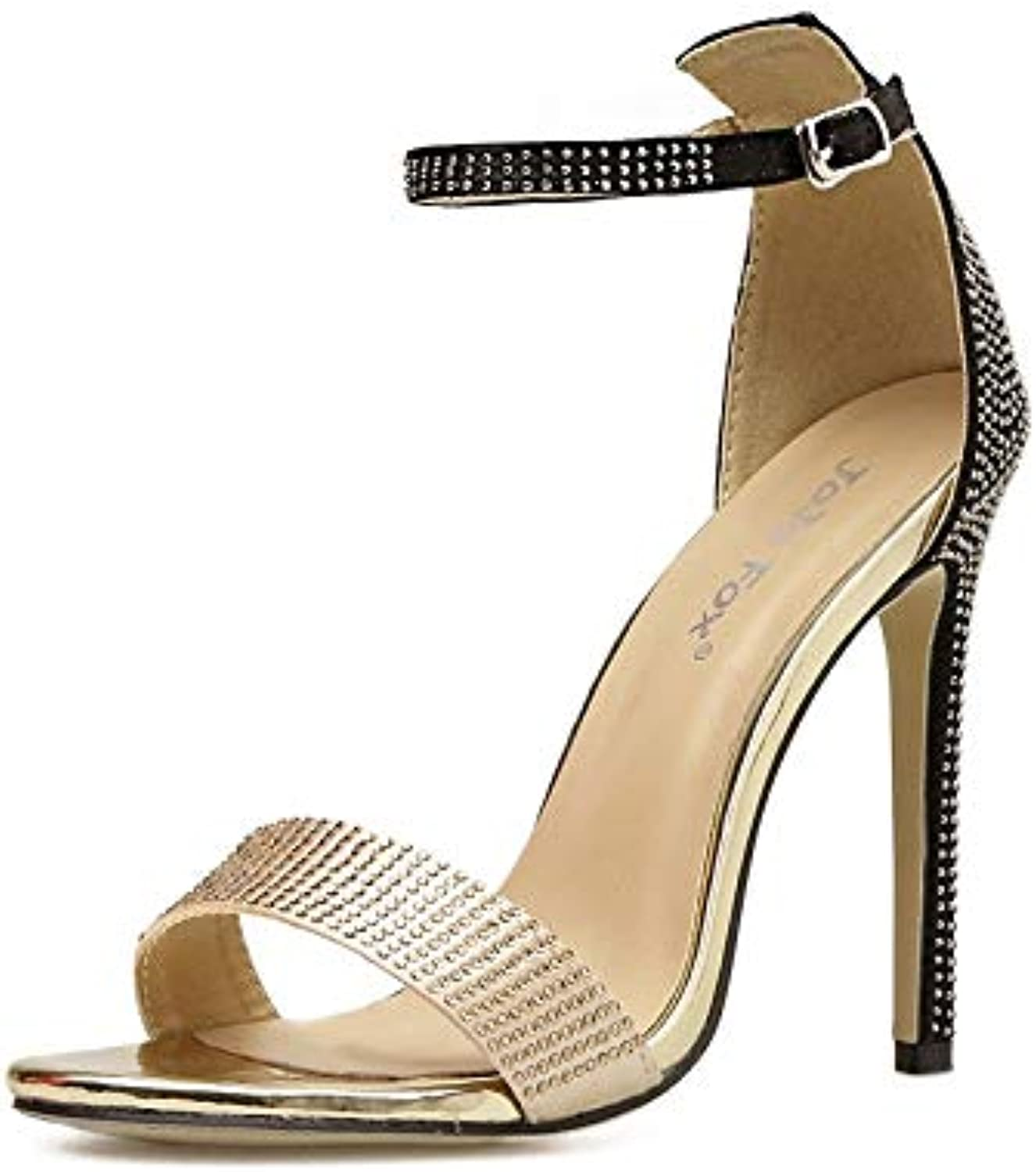 KCatsy Women's Stiletto High Heels Sexy Party Sandals with Rhinestone
