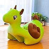 ahzha Plusdoll Neue Sicherheitssitz Einhorn Baby Lernsitz Plüsch Spielzeug tragbare Kindersofa 75cm grün