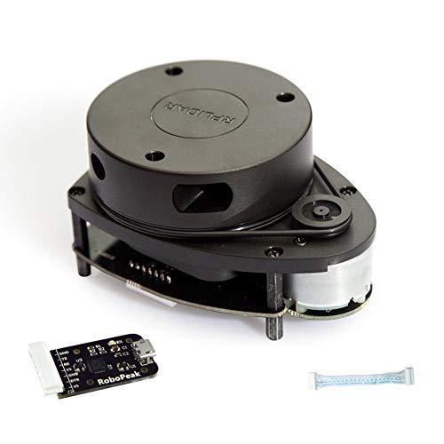 RPLiDAR A1M8 Sensor Laser Scanner Kit 360 Degree 2D 12M Distance Radar Sensor Module Range Finder Developed by SLAMTEC, for Robot Drone Omnidirectional Scanning