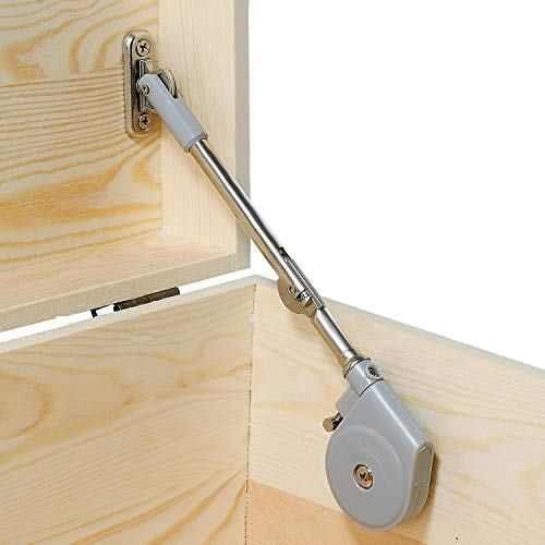 RUYUFE Lid Stay 105 Degree Open with Soft Close, Lid Support for Toy Box and Upward Top-Opening Flap Doors, Easy to Install