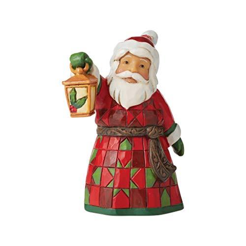 Heartwood Creek Mini Figurina Babbo Natale con Lanterna, Resina, Multicolore, Taglia Unica, (6006661)