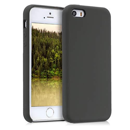 kwmobile Cover compatibile con Apple iPhone SE (1.Gen 2016) / 5 / 5S - Custodia in silicone TPU - Back Case protezione cellulare verde oliva opaco