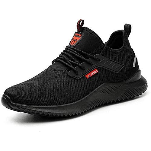 Chaussures de Sécurité Homme Femmes Chaussures de Travail Embout Acier Protection Ultra légère et Indestructible Respirant Basket Securite Unisexes