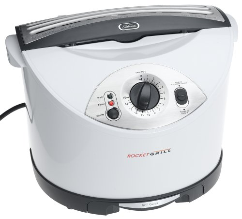 Sunbeam 7530 Rocket Grill Electric Grilling Appliance, White