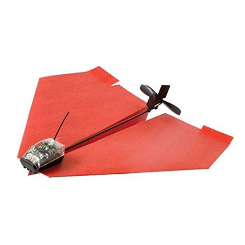 Motorisierte Papierflieger fliegen mit Smartphone