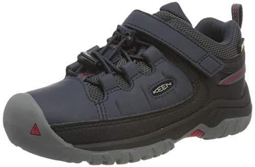 KEEN Unisex Kinder Targhee Low Wp Walking-Schuh, Blue Nights/Red Carpet, 35 EU