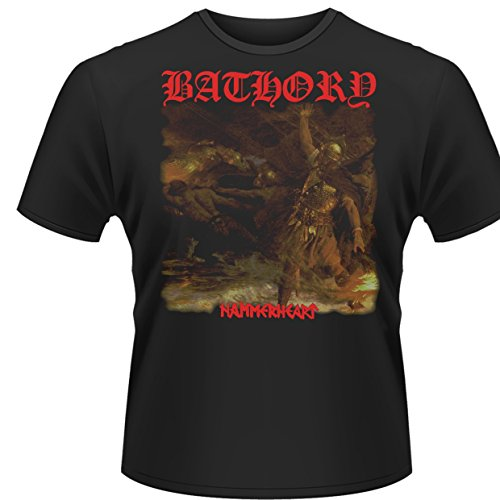 Plastic Head Bathory Hammerheart - Camiseta para hombre, color negro, talla Large