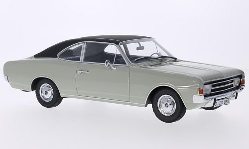 Opel Rekord C 1700 L Coupe, grau/matt-schwarz, 1966, Modellauto, Fertigmodell, Minichamps 1:18
