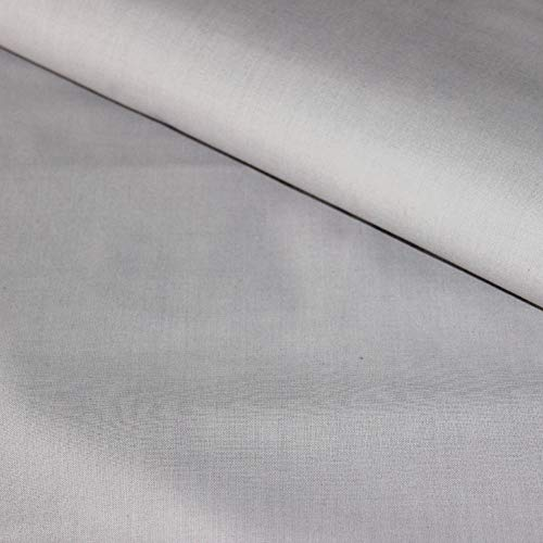 Pingianer 100% Baumwolle Uni Einfarbig Baumwollstoff Kinderstoff Meterware Handwerken Nähen Stoff (Dunkelgrau,...