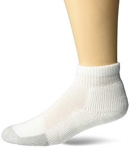 Thorlos - Mini calzini da tennis, unisex, TMX11004, bianco, M