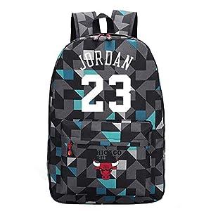 TFTREE Bulls Jordan 23 bolsa de deporte de baloncesto mochila para hombres y mujeres mochila para computadora mochila de…