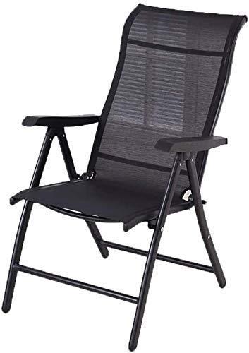 N/Z Wohnausrüstung Sitzgelegenheiten im Freien Liegestuhl Campingstühle Klappbarer Liegestuhl Tragbarer Computerstuhl Gartenmöbel (Farbe: Schwarz)
