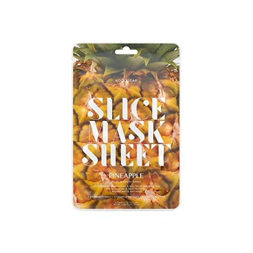 Kocostar Pineapple Slice Mask Sheet, 2er Pack(2 x 1 Stück)