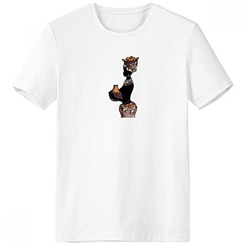 DIYthinker Homme Primitif Africain autochtone Noir Totems Crew-Neck T-Shirt Blanc Tagless Comfort Printemps Sports d'été T-Shirts Cadeaux - Multi - XXX-Large Multicolore