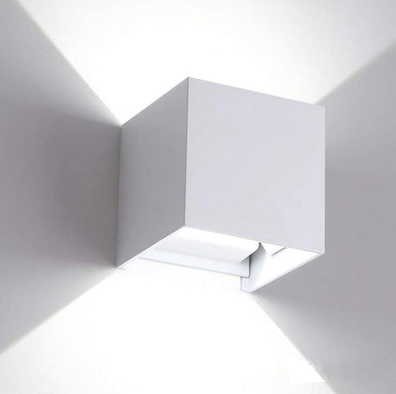 Reeseiy Led Wandleuchte Quadratisch Gang Garten Beleuchtung Outdoor Wasserdicht Wand Lampe Schwarz Ist Nicht Wasserdicht 7 W Lampenabdeckung Aluminium 10X10X10Cm