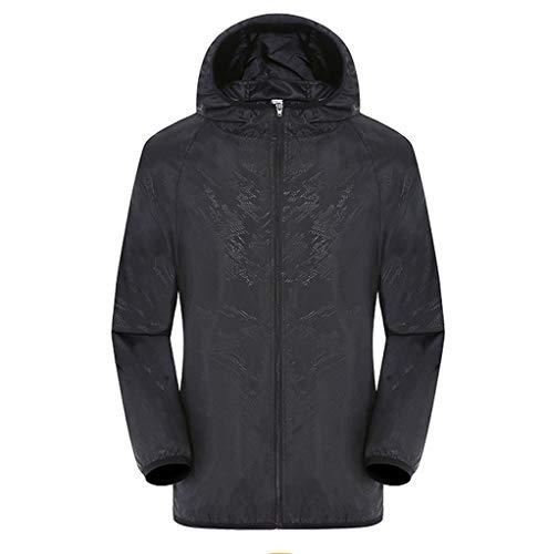Lomelomme Herren Regenjacke Wasserdicht Atmungsaktiv Übergangsjacke Männer Regenmantel Outdoor Sonnenschutz Jacken