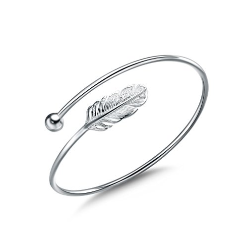 Jenny-BaBy Women Bracelet Vintage Style Adjustable Leaf Feather Bangle -$5.74(52% Off)