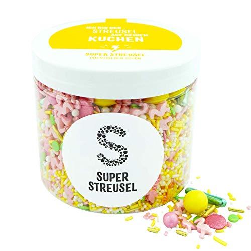 Super Streusel PinaColada (180g) | Zuckerstreusel für Kuchen Kekse Torte uvm. | Alle Zutaten aus der EU | Streuselmix aus Hamburg bekannt aus TV & Print | Ohne AZO-Farbstoffe (180g)