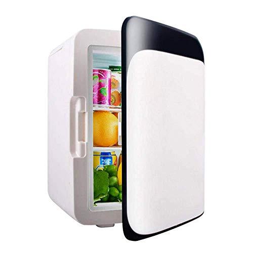 SHKY Mini-Kühlschrank - tragbares thermoelektrisches AC/DC-System (10 Liter), Auto- und Haushaltskühlschränke, Weinkühler mit 12 V und 220-240 V, mit Heizung und Kühlung,C