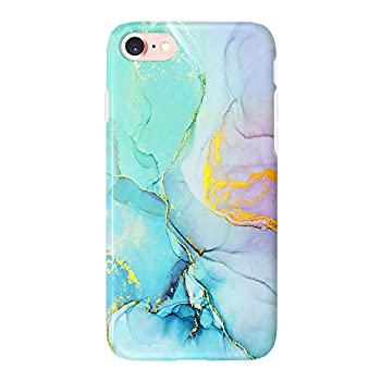 uCOLOR Gradient Mint Marble Case Compatible iPhone 6s/6,iPhone 8/7 SE 2nd Case for Girls Slim Soft TPU Durable Protective Case for iPhone 6S/6/7/8 SE 2nd  4.7