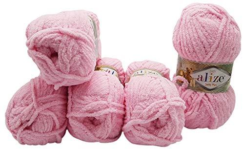 Alize Softy Plus - Ovillo de lana para tejer (5 ovillos de...