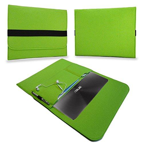 UC-Express Tasche Notebook 13,3 Zoll Hülle Schutzhülle Ultrabook Filz Case Cover Sleeve Bag, Farben:Grün, Notebook:Blaupunkt Endeavour 1013