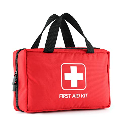 220 Piece First Aid Kit with Hospital Grade Medical Supplies Exceeds FDA and OSHA Standards, Great for Home, Outdoors, Office, Car, Travel, Camping, Hiking, Boating, Every Emergencies.