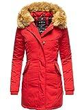 Marikoo Damen Winter Mantel Winterparka Karmaa Rot Gr. M