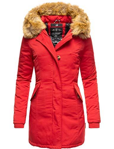 Marikoo Damen Winter Mantel Winterparka Karmaa Rot Gr. S