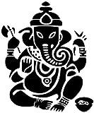 UYEDSR Stickers Auto 12.9cmX15.4cm éléphant Bouddha Mode Voiture-Style décor Autocollants décalcomanies-Noir_2pcs