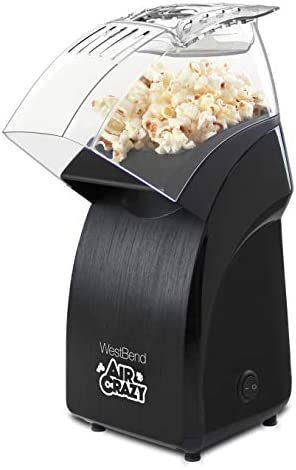 West Bend 82471B Crazy Popper Machine Pops Up To 4 Quarts of Popcorn Using Hot Air Black product image