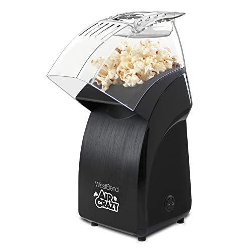 West Bend 82471B Crazy Popper Machine Pops Up To 4-Quarts of Popcorn Using Hot Air, Black