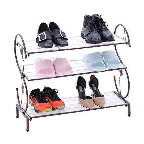 HLL Zapatero dormitorio ahorra espacio a prueba de polvo simple casa pequeña puerta de entrada pequeña tienda con armario de zapatos de hierro forjado