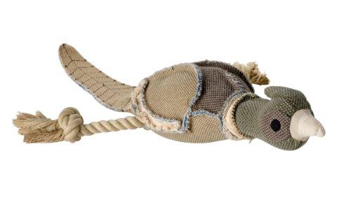 HUNTER CANVAS WILD DUCK Hundespielzeug, Vintage-Style, mit Baumwolle, Quietschspielzeug, Ente, 27 cm