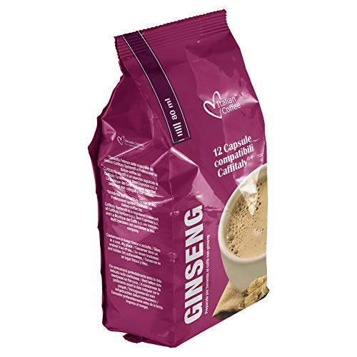 96 capsule Italian Coffee compatibili Sistemi Caffitaly System-Professional-Coffee For You*(12cps. * 8 sacchetti) (Caffè al Ginseng)