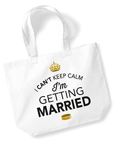 Sposa, borsa da sposa, borsa da spalla, borsa per sposa, regalo di nozze, regali, feste di addio al nubilato, feste di addio al celibato, addio al nubilato regali, idee per sposa, ricordi, Tessuto, White, large