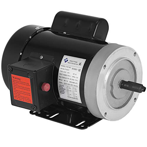 Mophorn 1 Hp Electric Motor 1725 RPM 11.2-5.6 A Single Phase Motor AC 115V 230V Air Compressor Motor 56C Frame Suit for Agricultural Machinery and General Equipment