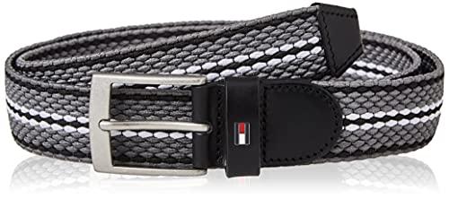 Tommy Hilfiger ADAN Elastic 3.5 Cinturn, Gris Mix, 100 cm para Hombre
