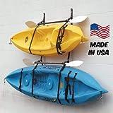 Webbing Boat Hanger Strap - Set of 2, Kayak Wall Hanger, SUP Wall Hanger, Kayak Hanger, Canoe Hanger, Surfboard Hanger, Garage Hanger, Kayak Wall Rack Hanger Adjustable