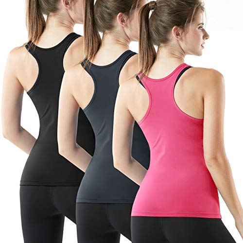 (30% OFF) Ladie's Racerback Workout Tank Tops 3-Pack $13.98 Deal