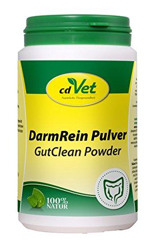 cdVet Naturprodukte DarmRein Pulver 180 g - Hund&Katze - Darmschutzschicht - Darmschleimhaut - Mineralien+Spurenelementen+Nährstoffe - verdauungsfördernd - Darmgesundheit - Immunsystem - Bakterien -