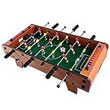 YAOMIN Mini Tabla de Madera Portable Mejor Fútbol Foosball Family Fun Juego - Interior y Exterior Conjunto de fútbol