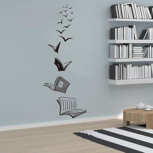 yaofale Lesebuch Asuka Wandtattoo-Bibliothek Klassenzimmer Aufkleber Buch Studie Vinyl Wandaufkleber-Schlafzimmer Wandkunst