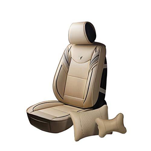 HRFHLHY Fünf-Sitzer-Autositzbezug, kompatibel mit Audi-Serien: A1, A3, A4, A5, A6, A7, A8, Q3, Q5, Q7, Beige, A1.